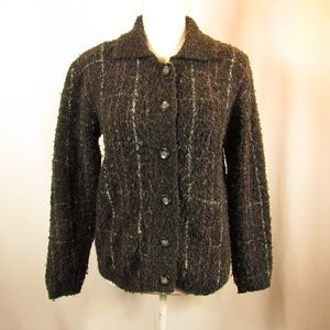 Pendleton Wool Blend Button Front Cardigan Sweater